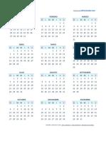 Calendario 2018 Pequeno