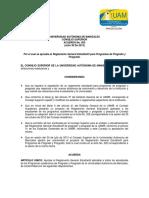 Reglamento General Estudiantil Para Programas de Pregrado y Posgrado 1 (1)