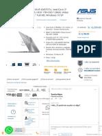 Laptop Asus Zenbook UX410UF-GV075TU, In...130MX, LED 14._ Full HD, Windows 10 SP