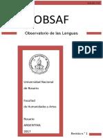 Revista OBSAF Número 1