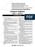 Fgv 2013 Seduc Sp Professor Lingua Inglesa Prova
