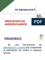 Presupuestos agrícola