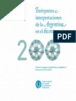 Interpretes e Interpretaciones de La Argentina en El Bicentenario
