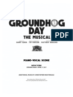Groundhog Day- Piano-Vocal Score