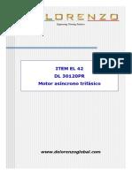 EL 42 (DL 30120PR-Motor Asíncrono Trifásico)