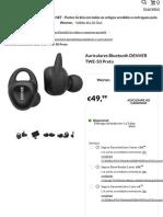 Auriculares Bluetooth DENVER TWE-50 Preto | Worten.pt