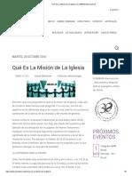 Qué Es La Misión de La Iglesia _ COMIBAM Internacional