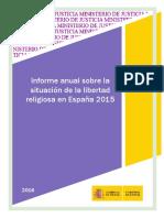 Informe libertad religiosa en España 2015