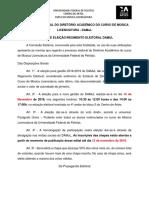 EDITAL ELEIÇÔES 2018-2019, Anexo e Ficha de Inscrição Segunds Publicacão