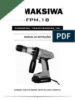 Parafusadeira Maksiwa Manual Fpm18 BR
