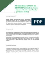 Articulo Tipos de cerámicas - Curso protésico dental (Neptunos formación S.L.)