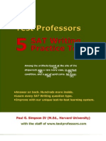 Free SAT Writing Test, From 5 SAT Writing Practice Tests