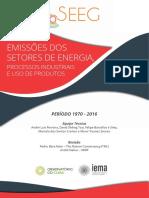 Relatórios SEEG 2018 Energia
