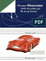 1954 Corvette Sales Brochure