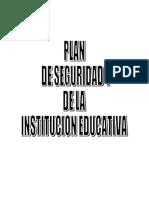 Plan de Seguridad de La Institucion Educativa