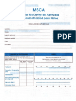 Msca - Escala MCcarthy de Aptitudes y Psicomotricidad Para Niños