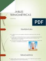 Variables Termométricas Física 607
