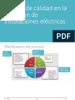 Calidad en La Ejecución de Instalaciones Electricas