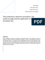 Preliminary Reference Procedure