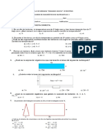 Examen de Diagnostico Tercero Matematicas