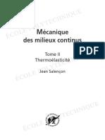 Mécanique Des Milieux Continus, Tome 2 Thermoélasticité