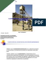 Clase12_2018_I Clasificación de Metodos Minado Subterr