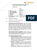 Modelo de Informe Wais IV Carlos Javier Huapaya