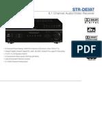 Sony STR DE597 Specificationss