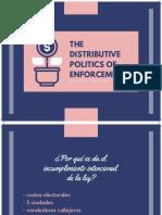 The distributive politics of enforcement Presentación
