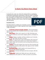 101 Facebook Hacks You Never Knew About