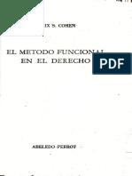 1.1 - 1. El Metodo Funcional en El Derecho - Cohen (Extracto) (I)