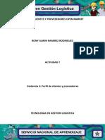Evidencia 2 Perfil de Clientes y Proveedores Openmarket