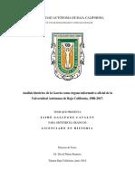 Análisis histórico de la Gaceta como órgano informativo oficial de la Universidad Autónoma de Baja California, 1980-2017.