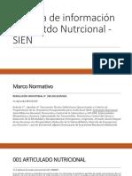 Sistema de Información Del Esatdo Nutrcional - SIEN