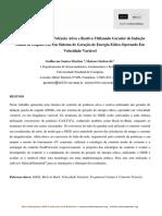 Tecnica de Controle de Potencia Ativa e Reativa Utilizando Gerador de Inducao Gaiola de Esquilo Em Um Sistema de Gera de Energia Operando Em Velocidade Var