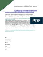 Understanding Financial Statements 11th Edition Fraser Ormiston Test Bank