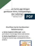 Klasifikasi Karies Gigi Dengan Gambaran Klinis, Histopatologis