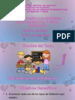 Clase 4 - La Didáctica - Clasificación
