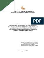 PROPUESTA DE UN PROGRAMA DE ADIESTRAMIENTO BASADO EN EL COMPORTAMIENTO ORGANIZACIONAL CON LA TECNICA DEL GOUN HO, EN LA EMPRESA TRAKI DISTRIBUIDORA, C.A. SEDE DE CARACAS-VENEZUELA DURANTE EL PRIMER SEMESTRE