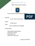 Infome de Geodinamica El Ronquillo