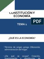 Tema 1 Constitución y Economía