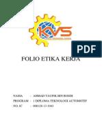 Folio Etika Kerja