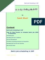 Background Job Scheduling in SAP