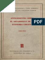 Antecedentes de la economía chilena (1925-1952)