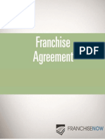 Sample Franchise Agreement FranchiseNow