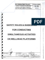 Safety Rules & Guidelines for Conducting Simultaneous Activities on Wellhead Platforms