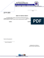 Grant for Service Credits 1