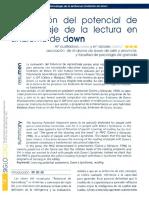 Evaluacion Potencial Aprendizaje de Lectura en Sindrome Down