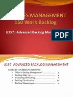 Advanced Backlog Management