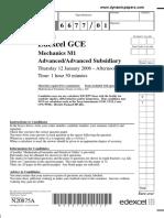 January 2006 QP M1 Edexcel